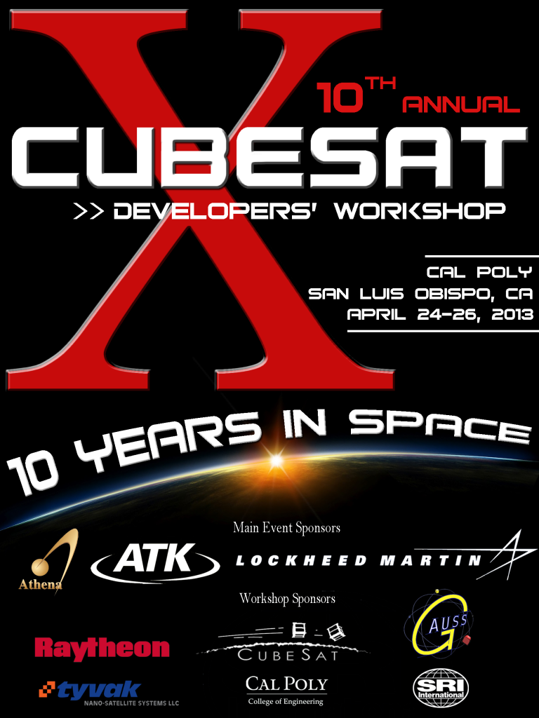 10th Annual CubeSat Spring Workshop 2013