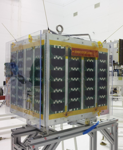 UniSat-5 in the clean room during integration