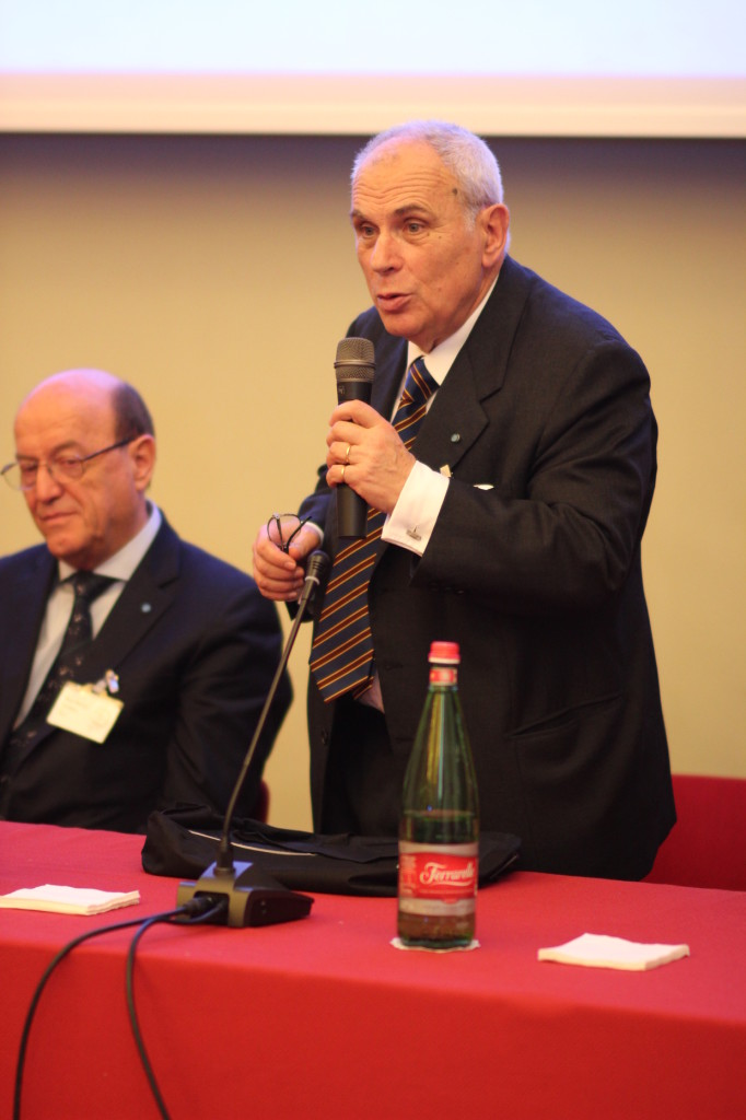Filippo Graziani during the opening of Dycoss 2014