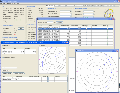 UNISAT-6 automatic ground station software