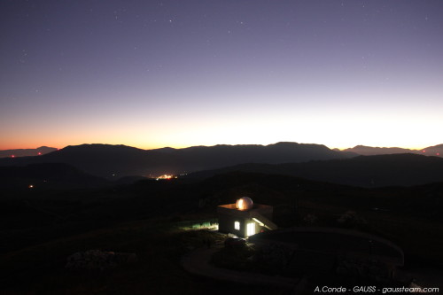 View of Castelgrande Observatory at sunset
