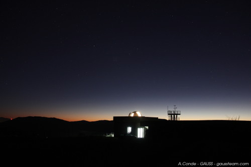 Castelgrande Observatory at sunset