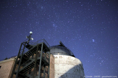Nocturnal view of the dome - Castelgrande Observatory