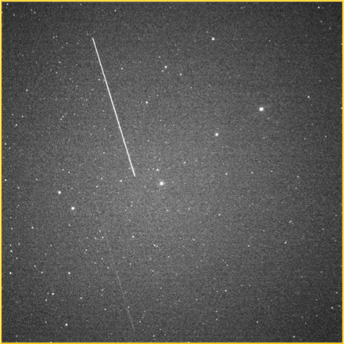 Picture of debris from Cosmos 2251 and Iridium 33