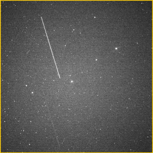 Picture of debris from Cosmos 2251 and Iridium 33