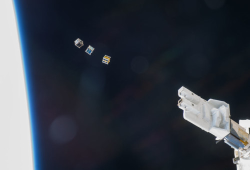 CubeSats being released from ISS ©Expedition 38 Crew, NASA