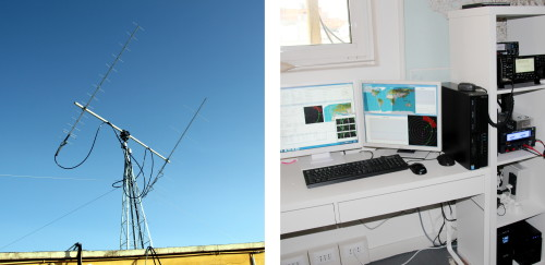 Gaussteam Ground station in Rome for microsatellites space operations