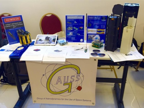GAUSS Stand at the II Latin American IAA CubeSat Workshop in Florianopolis
