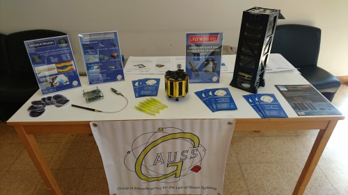 "GAUSS stand at the 10th International Workshop and Advanced School ""Spaceflight Dynamics and Control"" in Covilhã"