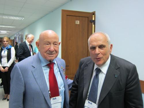 Alexey Leonov and Filippo Graziani
