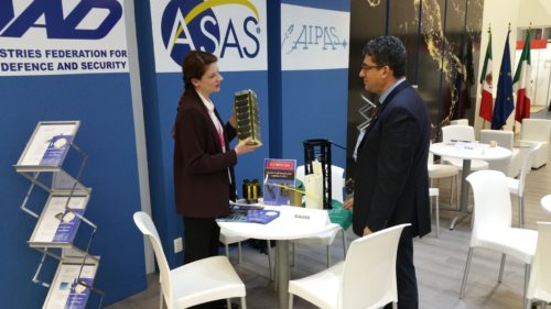 GAUSS showing a GPOD - Exhibit Room of Expo Guadalajara, IAC 2016