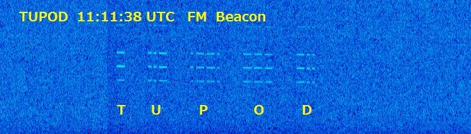 TuPOD Beacon received by JA0CAW