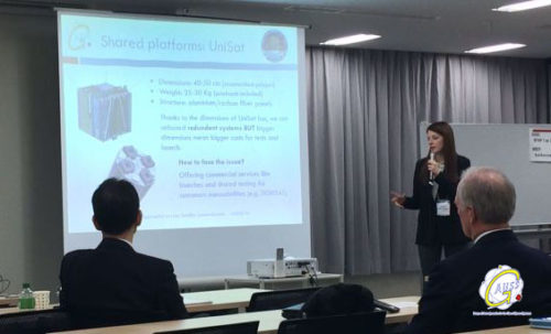 Marta Massimiani's presentation at the Workshop Lean Satellites Standardization 2017 in Tokyo