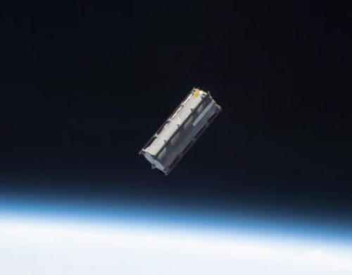 TuPod once released in Space - Photo Credits Thomas Pesques/ISS