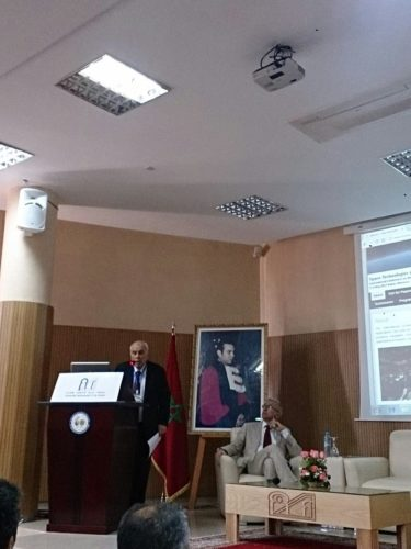 Professor Graziani, GAUSS President, speaking at the MNSAT Conference in Rabat (Morocco) @ MNSAT Conference
