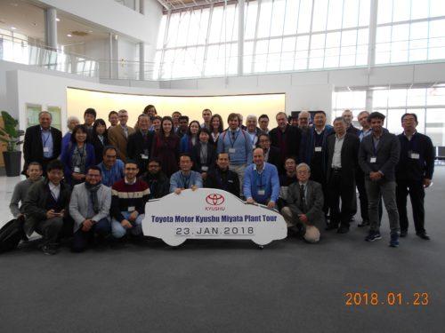 IWLS Participants at the Toyota plant tour